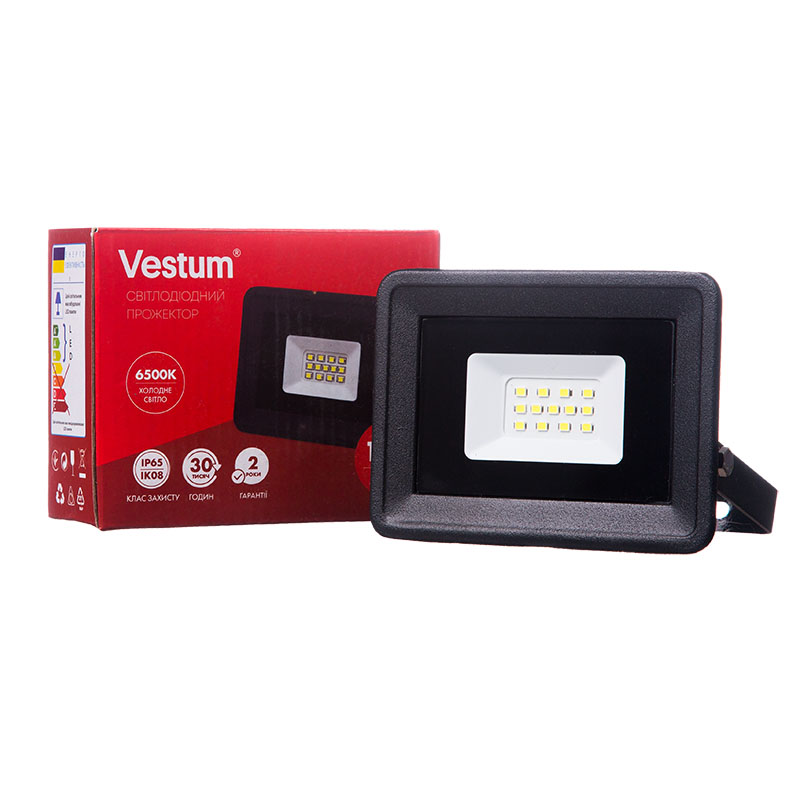 Прожектор LED Vestum 10W 900 Lm 6500K 175-265V IP65