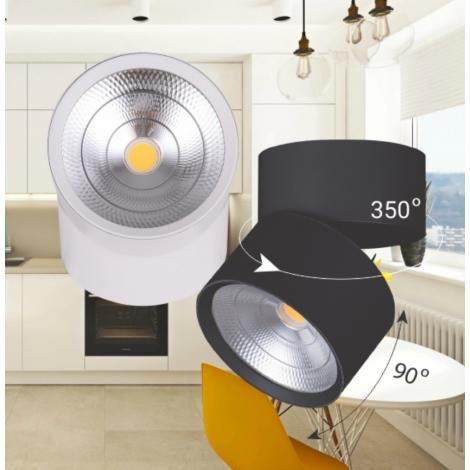 Светодиодный светильник Feron AL541 20W 4000K белый/черный