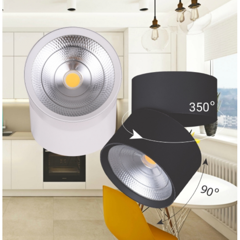 Светодиодный светильник Feron AL541 14W 4000K белый/черный