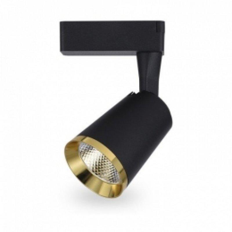 Трековый светильник Feron AL111 10W 4000K IP40 черный-золото 115х75х140мм