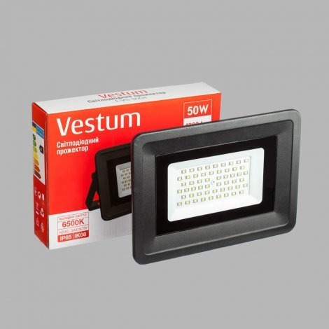 Прожектор LED Vestum 50W 4300Lm 6500K 185-265V IP65