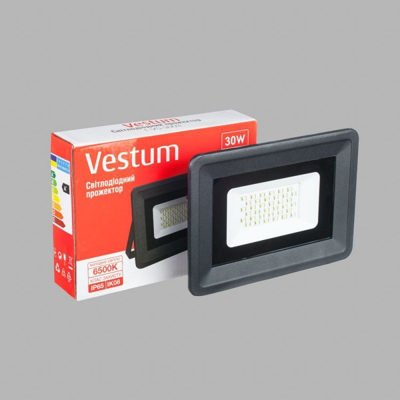 Прожектор LED Vestum 30W 2600Lm 6500K 185-265V IP65