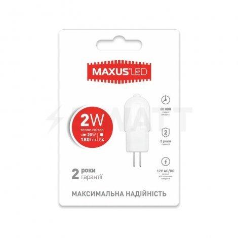 Светодиодная лампа MAXUS G4 2W 3000K/4100K 12V AC/DC 1-LED-207