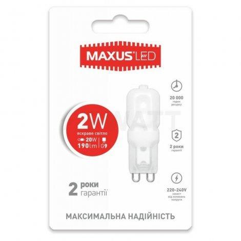 Светодиодная лампа MAXUS G9 2W 3000K/4100K 220V 1-LED-202