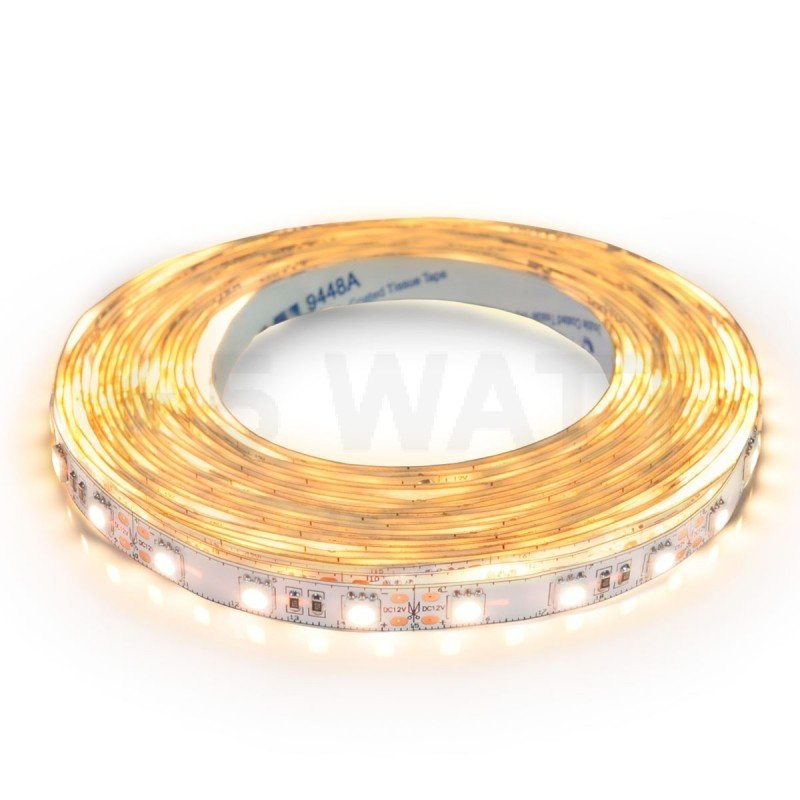 Светодиодная лента PROFESSIONAL SMD 5050 60LED/m 18W IP20 теплый белый