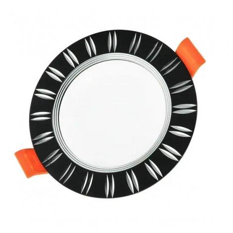 Светильник светодиодный Biom DFR-6W 6Вт черный круглый 5000К