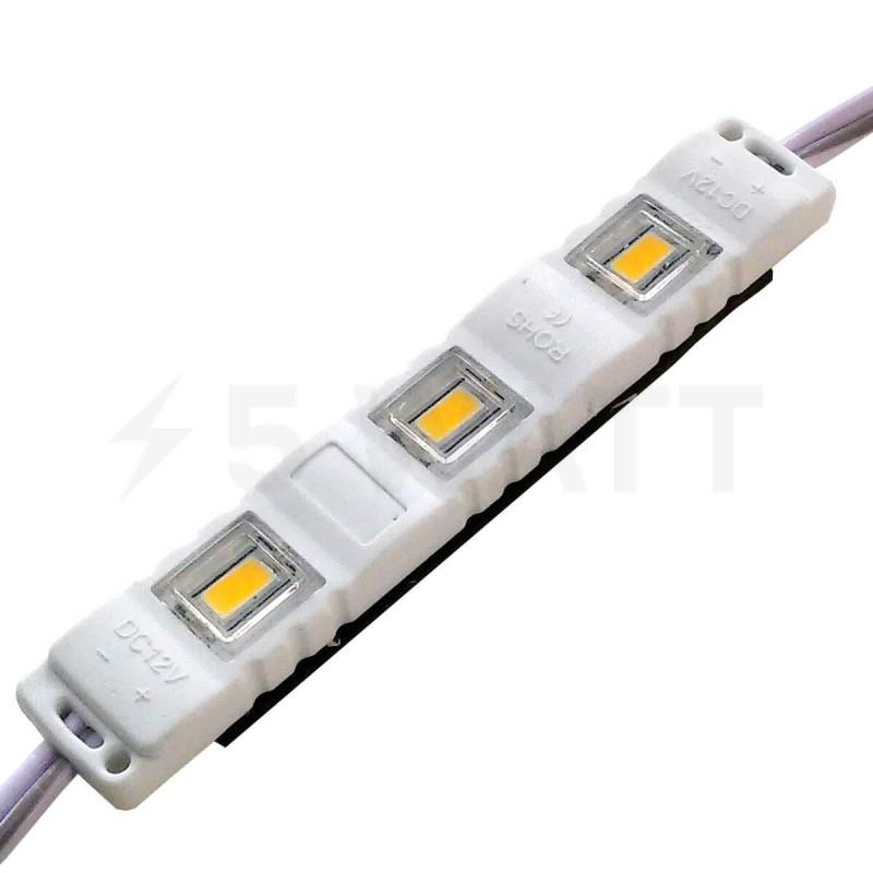 Светодиодный модуль BRT M2 SMD 5630 3LED 1,5W IP65 теплый белый закрытый с линзой