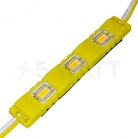 Светодиодный модуль BRT M2 SMD 5630 3LED 1,5W IP65 желтый закрытый с линзой