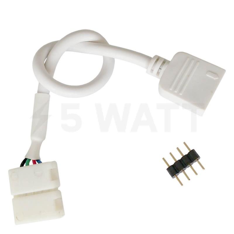 Коннектор для светодиодных лент OEM №10 10mm RGB joint joint wire (зажим-провод-зажим папа)