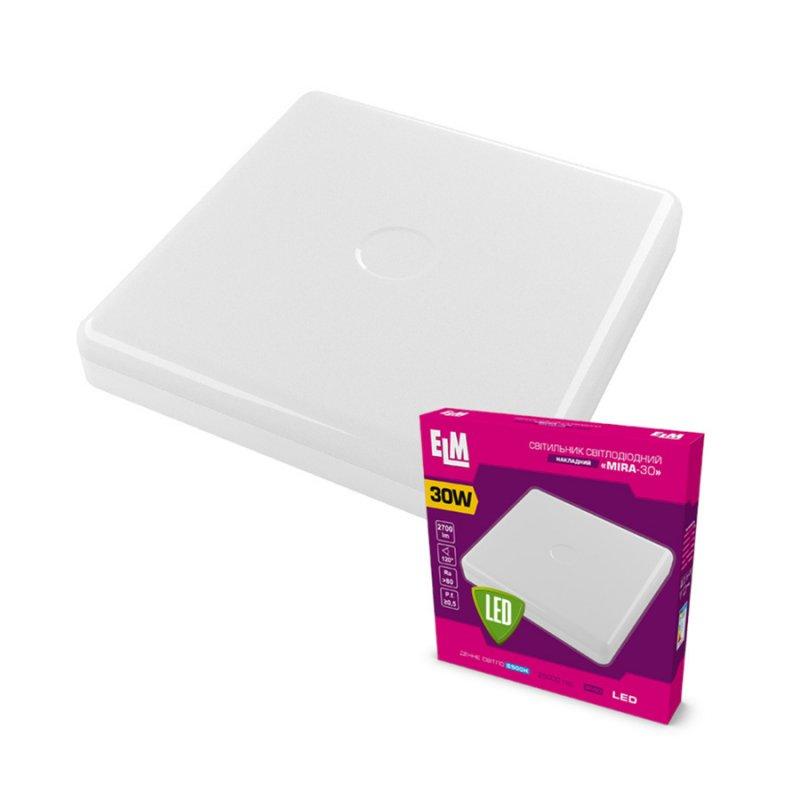 Светильник светодиодный накладной MIRA-30 30W 6500К IP40 белый 26-0079