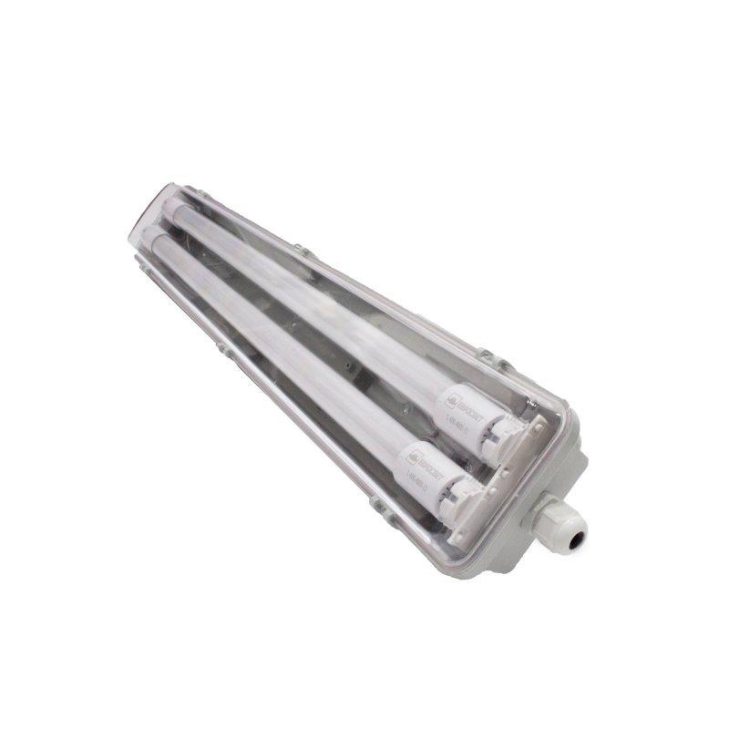 Промышленный светильник с лампами Евросвет EVRO-LED-SH-2*10 18W 2*600мм slim