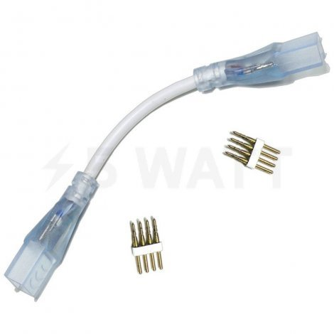 Коннектор для светодиодных лент 220V 5050 RGB (2 разъема-провод + 4pin (2 шт.))