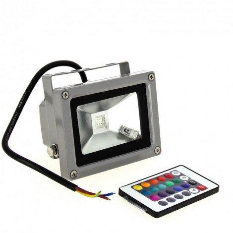 Светодиодный прожектор Lemanso LMP-9-11 RGB 10W + пульт