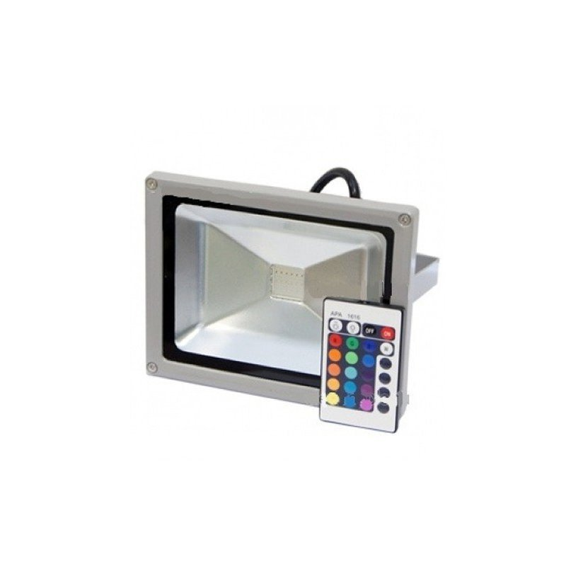 Светодиодный прожектор Lemanso LMP-9-21 RGB 20W + пульт