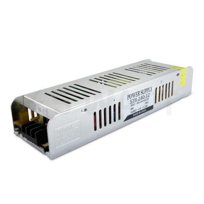 Блок питания OEM DC12 240W 20A STR-240 с EMC фильтром