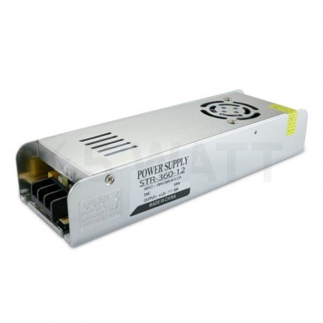 Блок питания OEM DC12 360W 30A STR-360 с EMC фильтром