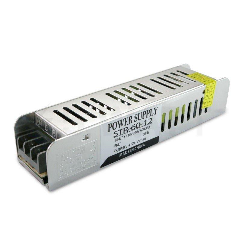 Блок питания OEM DC12 60W 5A STR-60 с EMC фильтром