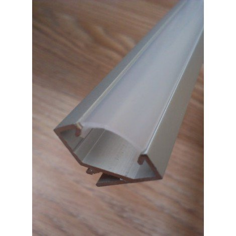 Угловой алюминиевый профиль для светодиодных лент с рассеивателем LED-07 (ЛПУ-17)