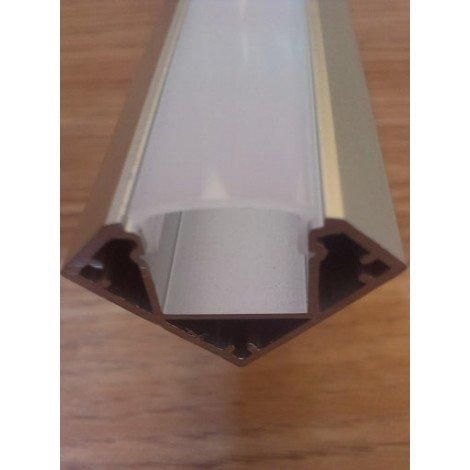 Угловой алюминиевый профиль для светодиодных лент с рассеивателем LED-04