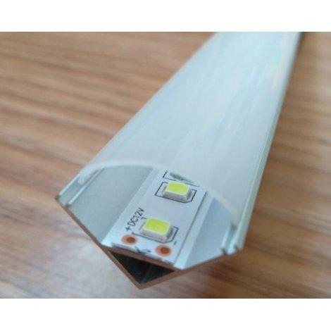 Угловой алюминиевый профиль для светодиодных лент с рассеивателем LED-06