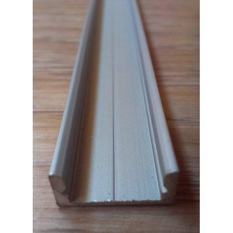 Накладной алюминиевый профиль для светодиодных лент анодированный ЛП7