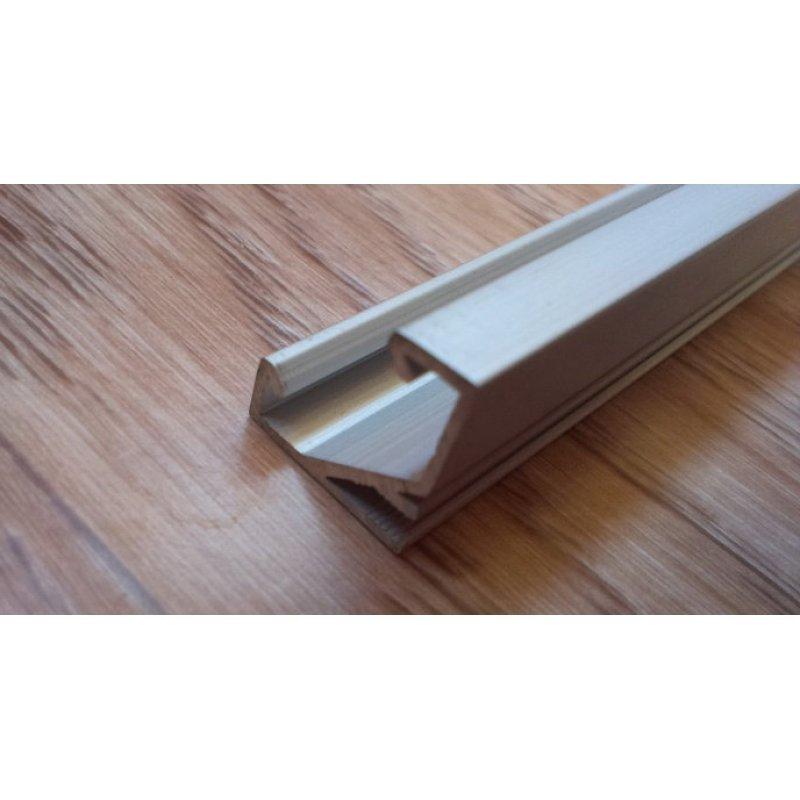 Угловой алюминиевый профиль для светодиодных лент анодированный ЛПУ7