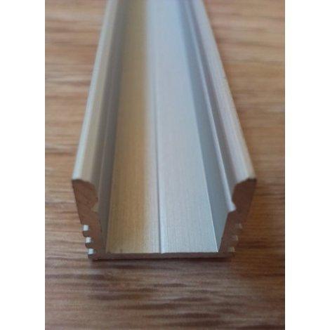 Накладной алюминиевый профиль для светодиодных лент анодированный ЛП12