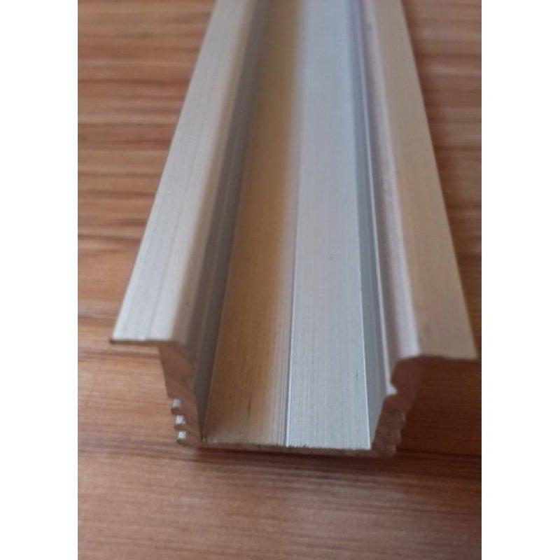 Врезной алюминиевый профиль для светодиодных лент анодированный ЛПВ12