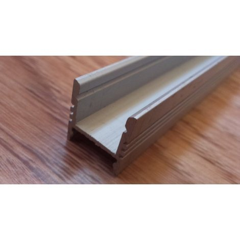 Алюминиевый профиль для светодиодных лент анодированный ЛПС12