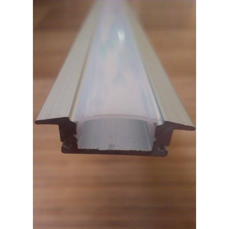 Врезной алюминиевый профиль для светодиодных лент с рассеивателем LED-03