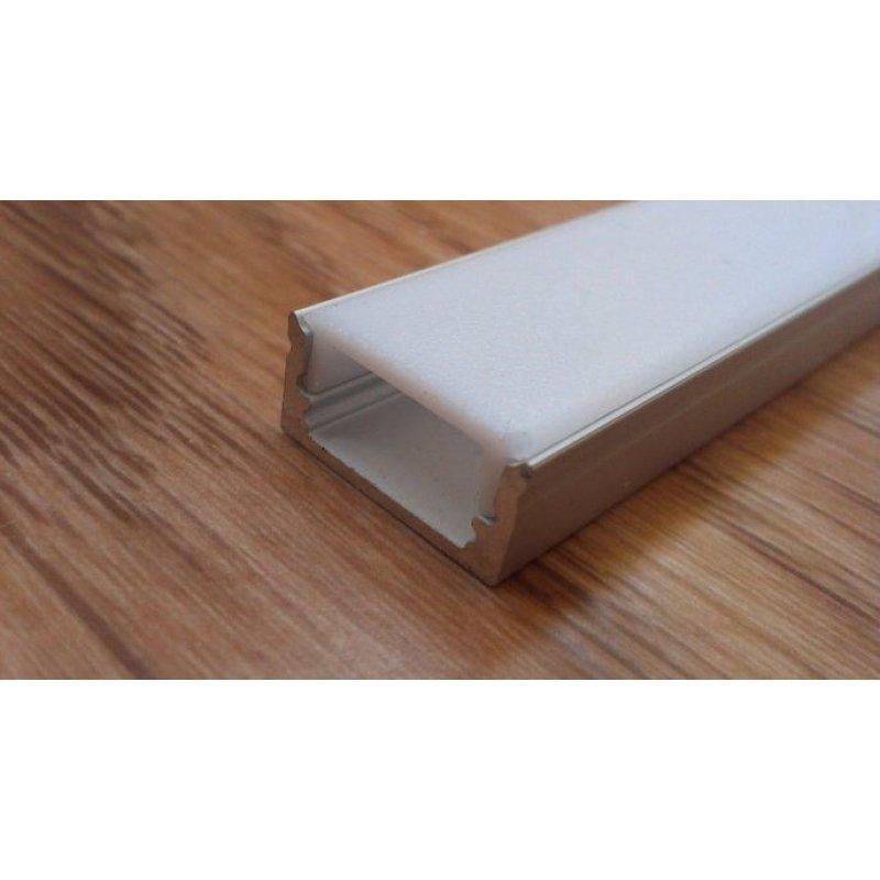 Накладной алюминиевый профиль для светодиодных лент с рассеивателем LED-05