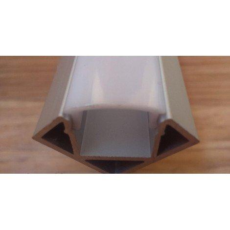 Угловой алюминиевый профиль для светодиодных лент с рассеивателем LED-03