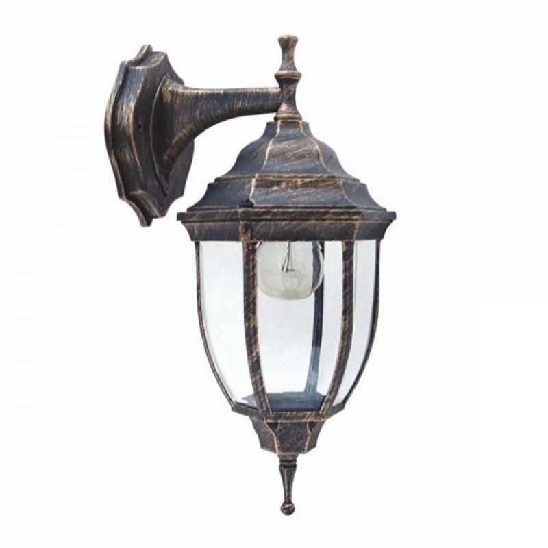 Светильник парковый RIGHT HAUSEN (метал/античное золото) 60W E27 вниз HN-19.3.01.8