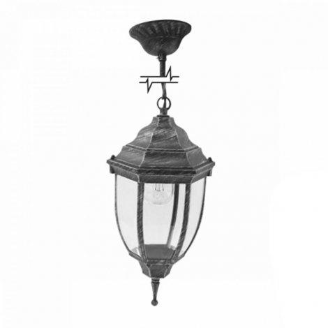 Светильник парковый RIGHT HAUSEN (метал/античное серебро) 60W E27 на цепи HN-19.3.03.9