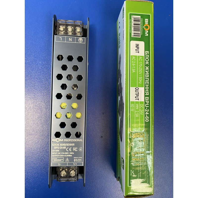 Блок питания Biom Professional BPU-24-60 24V 60W 24В 2,5А 60Вт