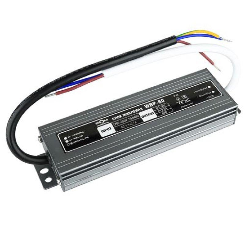 Блок питания BIOM Professional DC12 80W WBP-80-12 6,6А герметичный