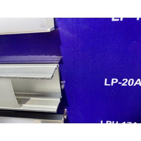 Комплект профиль аллюминиевый LED ЛП-20А + рассеиватель матовый LM-20 анодированый