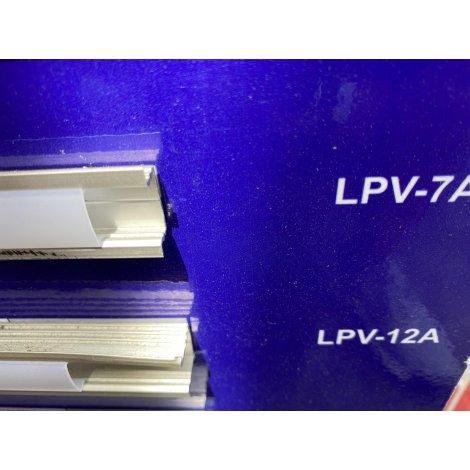 Комплект профиль алюминиевый LED ЛПВ-7А + рассеиватель матовый РМ анодированый