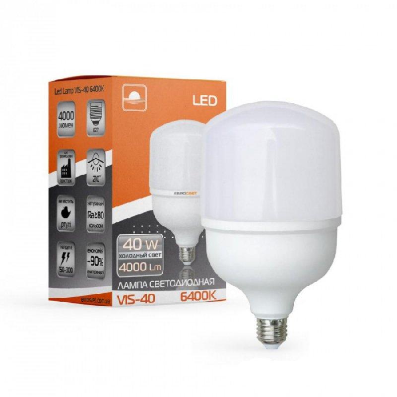 Светодиодная лампа EVROLIGHT 40Вт 4000K/6400K E27 (VIS-40-E27)