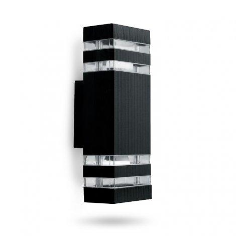 Светильник садово-парковый фасадный Feron DH0807 60W 2xE27 черный
