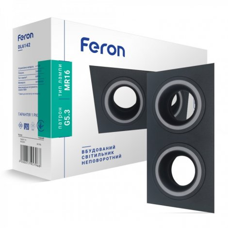 Встраиваемый светильник Feron DL6142 50W G5.3 Белый/Черный