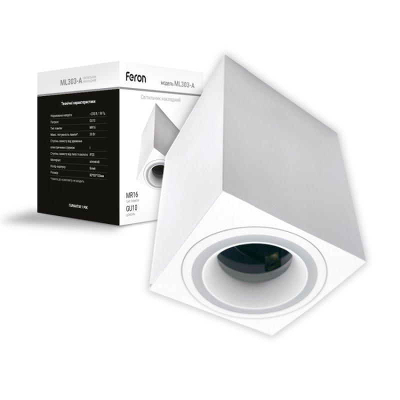 Светильник Feron ML303-A GU10 Черный/Белый