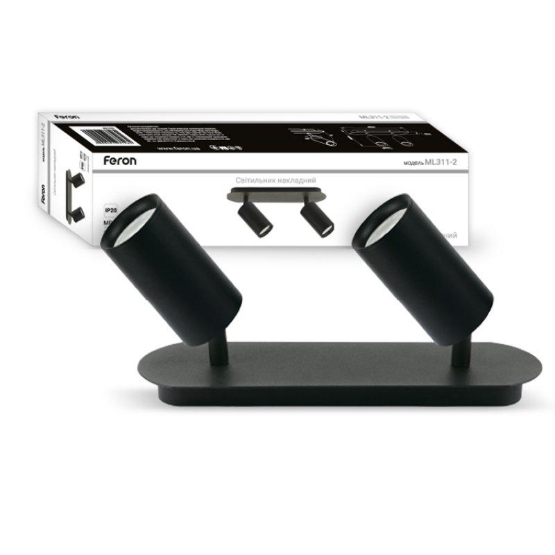 Светильник подсветки картин и зеркал Feron ML311-2 IP20 Черный/Белый