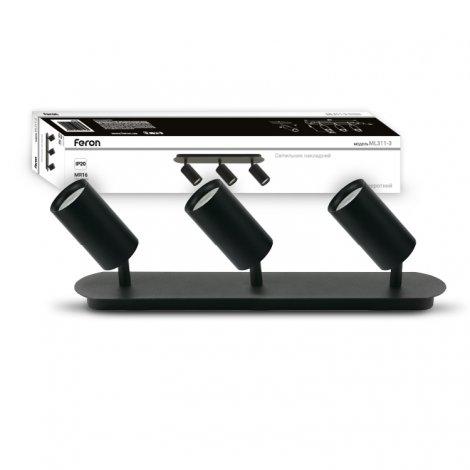 Светильник подсветки картин и зеркал Feron ML311-3 IP20 Черный/Белый