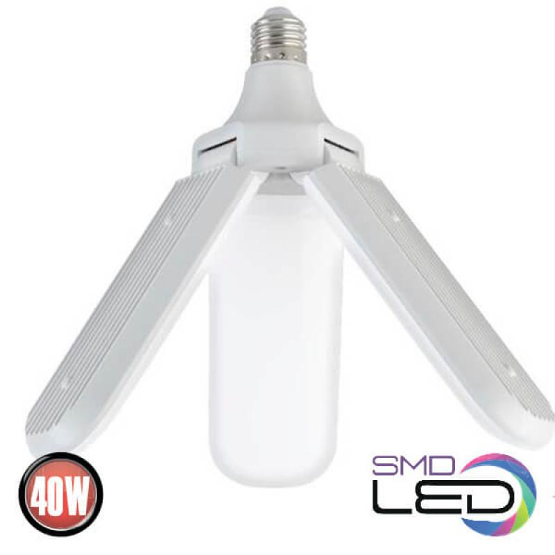 Светодиодная лампа промышленная Horoz Electric TRIO 40W E27 6400K