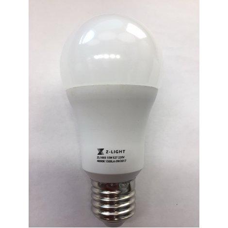 LED лампа Z-Light Led A60 15W 4000K 1500Lm ( Zl1003 ) E27 нейтральный свет