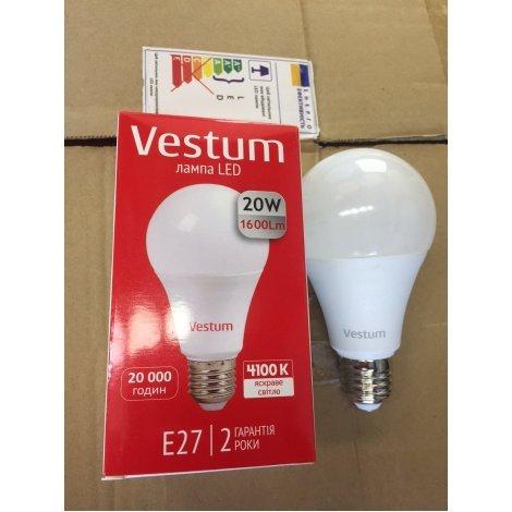 LED лампа Vestum A70 20W 4100K 1600Lm 175-265V E27