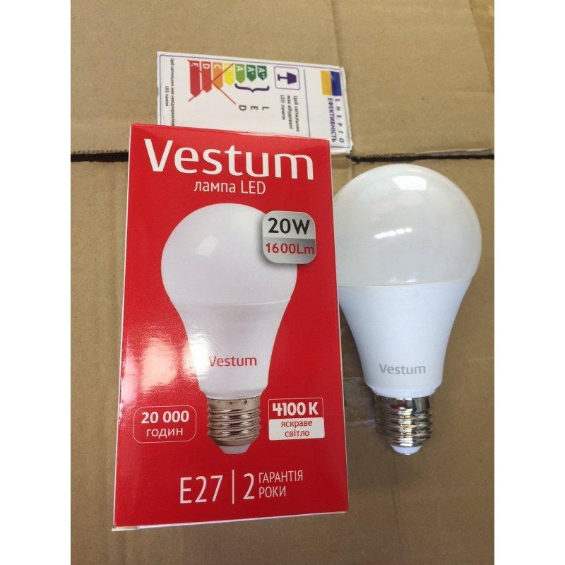 LED лампа Vestum A70 20W 4100K 1600Lm 175-265...