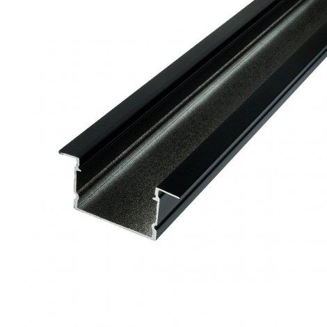 Профиль алюминиевый BIOM врезной LPV-20AB 20х30 анодированый, черный, палка 2м