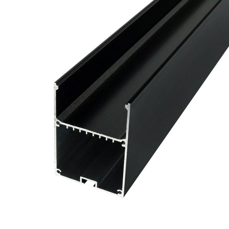 Профиль алюминиевый BIOM LSB-50AB 50*70мм анодированный, черный, 2м